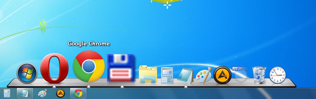 панели быстрого запуска для windows 8