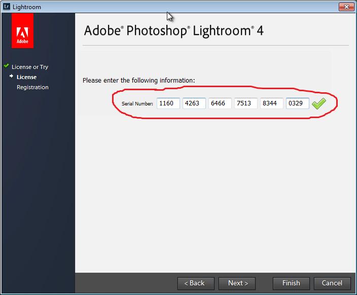 Код активации для программы Adobe Photoshop Lightroom 4.