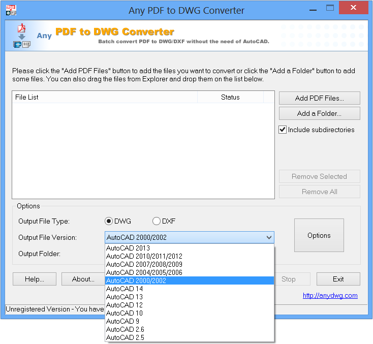 AutoDWG DWG to PDF Converter